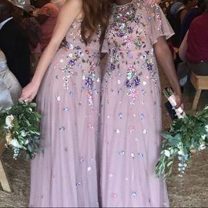 bb282de5bbd ASOS Dresses - ASOS floral embroidered dobby mesh cami maxi dress